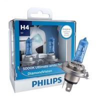 12V   H4  60/55W P43t  PHILIPS DiamondVision 5000К (2 штуки)