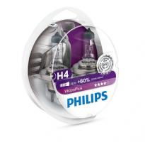 12V   H4  60/55W P43t  PHILIPS Vision Plus  +60% (2шт) 12342VP2